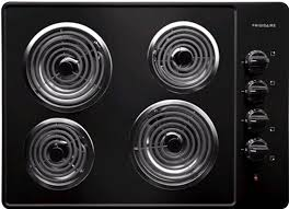 Electric stove top Black Frigidaire Ffec3005lb Black Aj Madison Frigidaire Ffec3005lb 30 Inch Electric Cooktop With Coil Heating