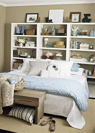 even simple bookcases could be a practical solution that make the most of the space behind