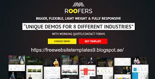 Free Downloads Web Templates Roofers Construction Contractor Html Template Free