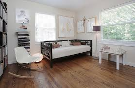 corner home office. Transitional Home Office With Daybed In The Corner [From: Lindsay Von Hagel]