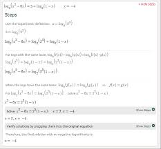 here s an example with natural logarithms here