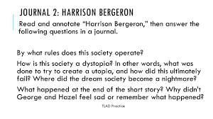 literary circles journal questions ppt video online  journal 2 harrison bergeron