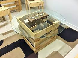 turn wooden pallets into coffee tables