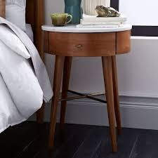 penelope nightstand acorn w marble top