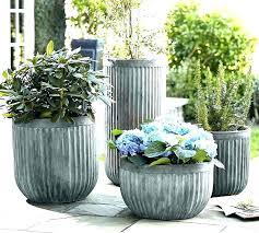 outdoor pots ceramic pots large pottery planters garden ceramic pot concrete fluted barn outdoor pots