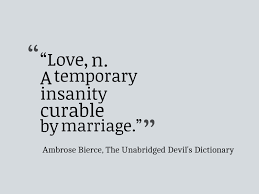 Definition Of Love Quotes Unique Ambrose Bierce Quote About The Definition Of Love Awesome Quotes