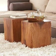 wood cube coffee table