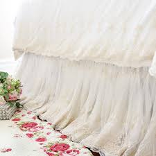 luxury lace love wrap around bed skirt
