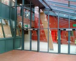 fire resistant glass sound glazed doors screens and windows internal doors lobby view