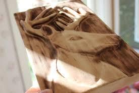 Wood Carving Dremel Carving A Deer Reindeer Relief With Dremel Youtube