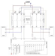 inverter mains change over automatic transfer switch controller wiring diagrams