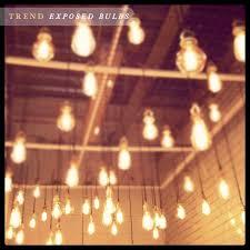 lightbulbs bare. Trend: Decorating With Exposed Bulbs Lightbulbs Bare