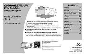 chamberlain hd210 instructions embly
