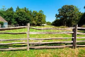 wooden farm fence. Ancient Wooden Fence On The Farm, Stock Photo Farm N