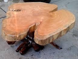 naturally unique cypress tree trunk handmade slab coffee table log