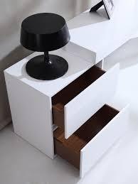 white modern office desk. Contemporary Two Drawer White High Gloss Office Desk With Glass Leg Kansas Missouri J\u0026M-MIA Modern R