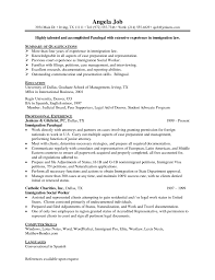 Immigration Paralegal Resume Sample Job And Resume Template