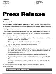 School Board Campaign Press Release Template Slate Blue Black And