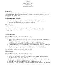 Welding Resume Objective Best of Welder Resume Examples Construction Full All For Template Welder