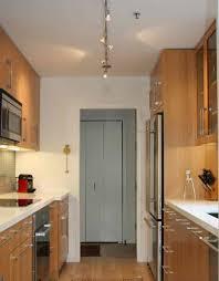 Modern Galley Kitchen Ideas With Track Lighting Galley Kitchen