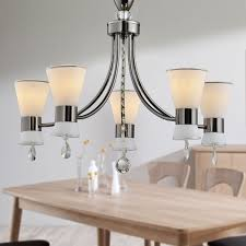 5 light black iron modern chandelier with glass shades hkc31333a 5