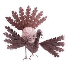 lot 18col202 206 metal turkey decor