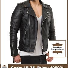 new collection young biker leather jacket