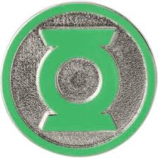 Colored Green Lantern Logo Lapel Pin - MG-45387 by Medieval Collectibles