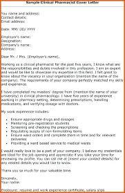Cover Letter For Pharmacist Job Insaat Mcpgroup Co