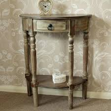 andover mills half circle wood console table reviews wayfair with half circle table circle table sizes
