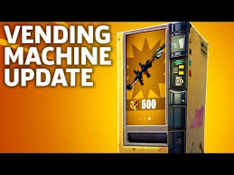 Ems Vending Machine Mesmerizing Fortnite Vending Machines Update Overview Video News EBL News