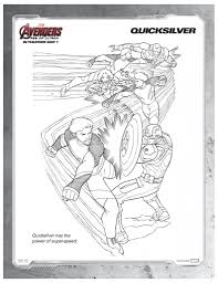 Marvels Avengers Quicksilver Printable Coloring Page