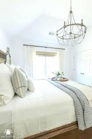 white bedroom chandelier one room challenge blue and white guest bedroom reveal before dresser decor modern