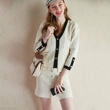 Новый Модный трикотажный костюм для женщин, <b>комплект из 2</b> ...