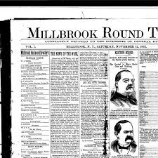 millbrook round table millbrook n y 1892 190 november 12 1892 page 1 image 1 nys historic newspapers
