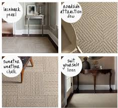 crab+fish: an honest review: flor carpet tiles in the entryway