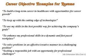sample examples for examples of objectives for resumes in healthcare