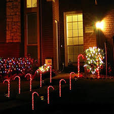 Green Candy Cane Pathway Lights Outdoor Candy Cane Garden Pathway Stake Solar Light