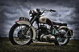vintage motorcycles digital art by carolann cahill