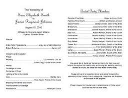 Templates For Wedding Programs Free Wedding Program Templates Lovetoknow Inside Wedding