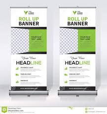 Roll Up Banner Design Template Vertical Abstract
