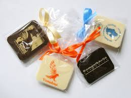 personalised chocolate bars promotional chocolate bar in a polybag with ribbon 7g