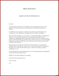 Motivational Letter For Internship Best Example Motivational Letter