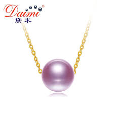 2019 daimi 18k pearl pendant 7 7 5mm fresheater pearl choker necklace white pink purple 18k pure gold chain pendant from ancient88 67 08 dhgate com
