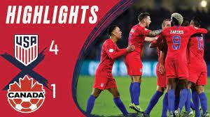 USA 4-1 CANADA Concacaf Nations League ...