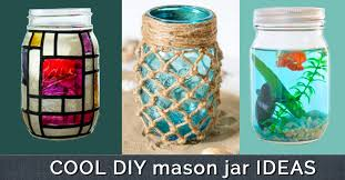 Ways To Decorate Glass Jars 100 Cute DIY Mason Jar Crafts 59