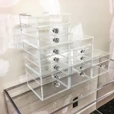 deluxe diamond handle clear acrylic makeup organizer 5 6 7 drawer kardashian style storage box