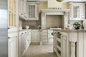 Exellent Antique White Kitchen Ideas With Custom Cabinets Glass Doors And Modern Design