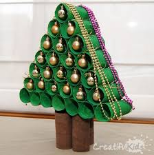 31 Easy U0026 Cheap Christmas Crafts For Kids  Toilet Christmas Tree Christmas Crafts Made With Toilet Paper Rolls