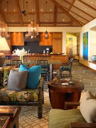tropical pendant lighting. Tropical Night Light Kitchen With Exposed Beams Ceiling Treatment Pendant Lights Lighting I